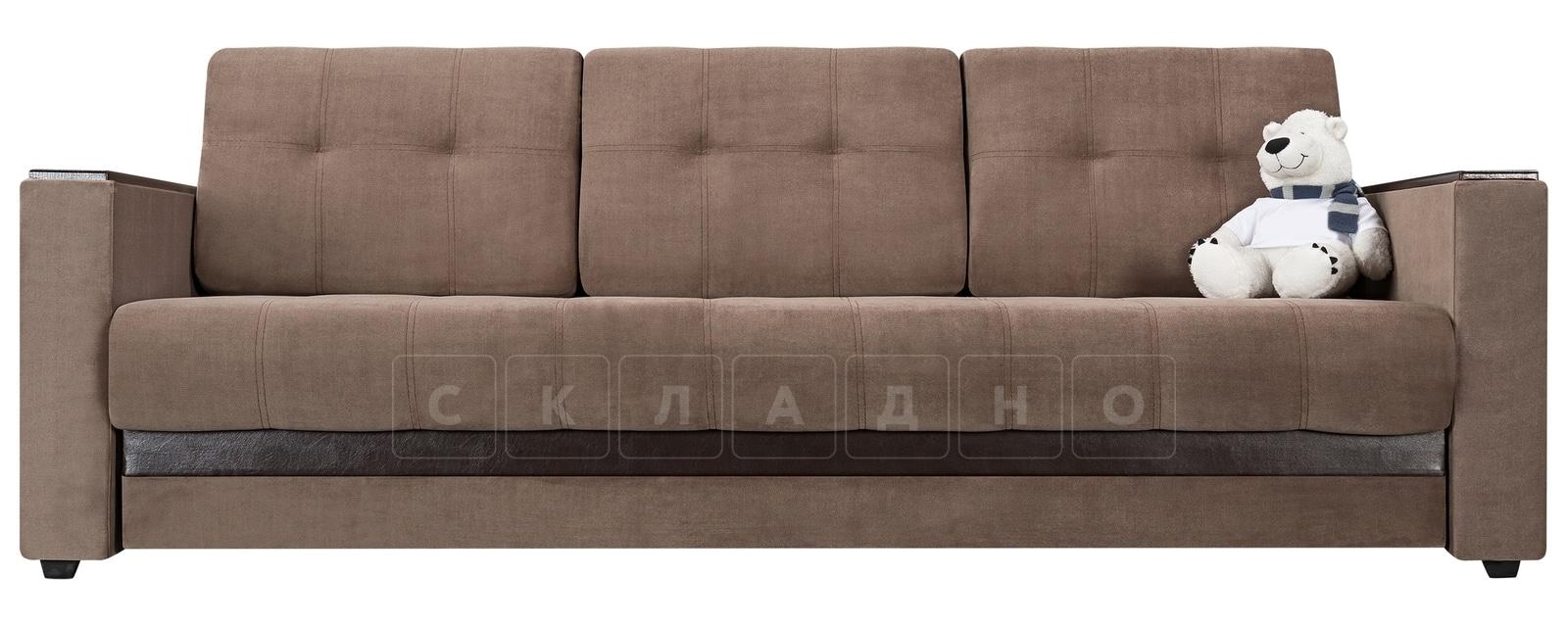 Диван Атланта вельвет светло-коричневый фото 2 | интернет-магазин Складно