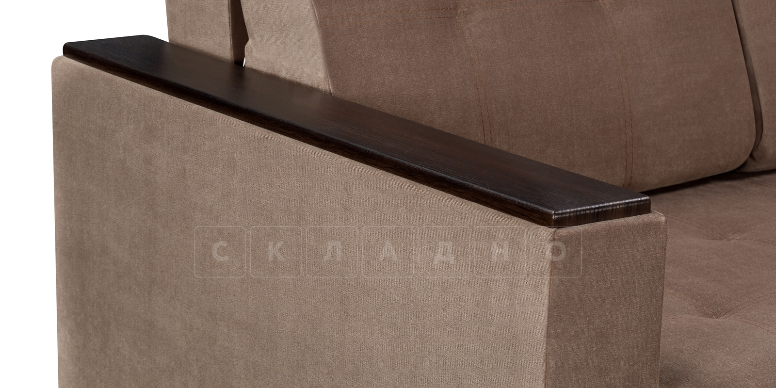 Диван Атланта вельвет светло-коричневый фото 4 | интернет-магазин Складно