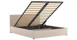 Мягкая кровать Синди 160 см бежевый с подъемным механизмом 15950 рублей, фото 2 | интернет-магазин Складно