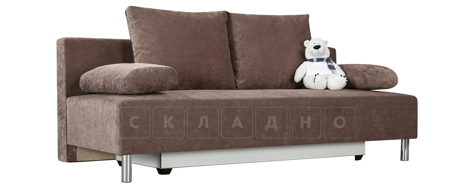 Диван Парма коричневый вельвет фото 1   интернет-магазин Складно