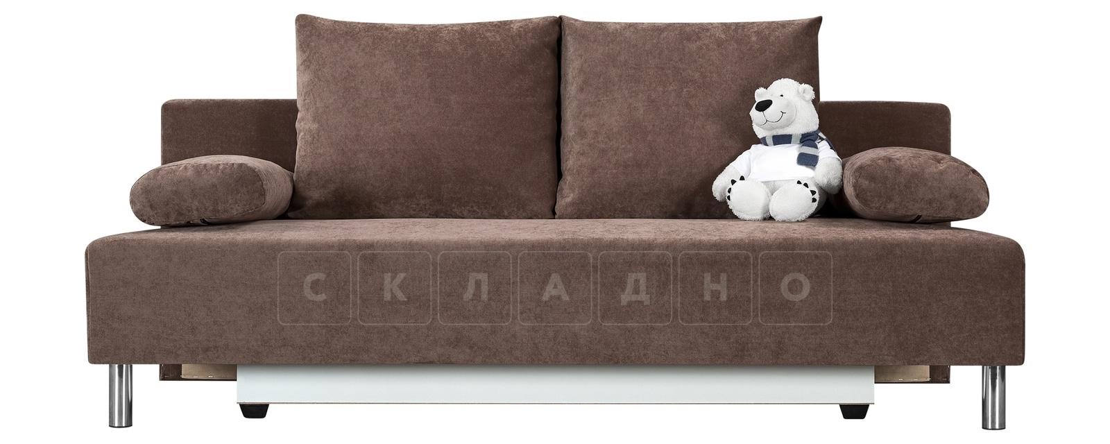 Диван Парма коричневый вельвет фото 2   интернет-магазин Складно