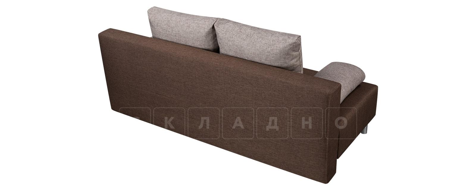 Диван Парма коричневый с бежевым рогожка фото 3   интернет-магазин Складно