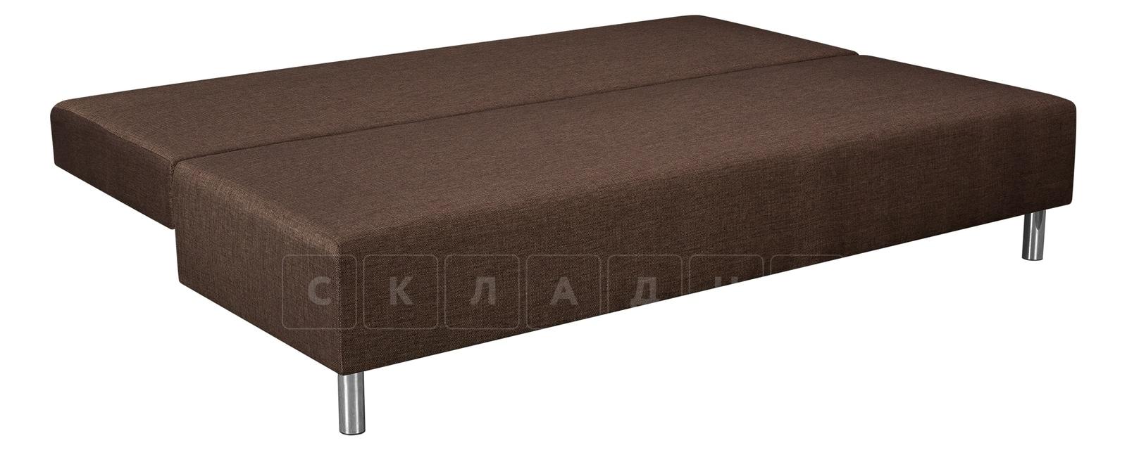 Диван Парма коричневый с бежевым рогожка фото 4   интернет-магазин Складно
