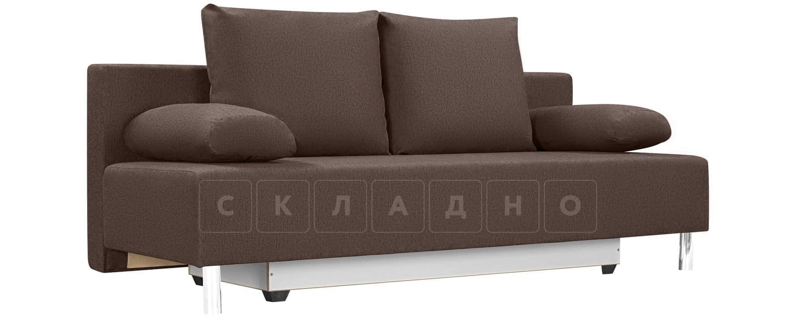 Диван Парма коричневого цвета рогожка фото 1 | интернет-магазин Складно