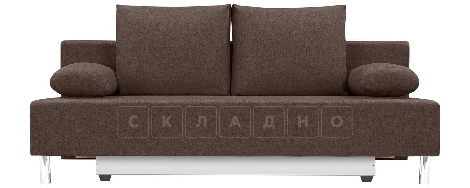 Диван Парма коричневого цвета рогожка фото 2 | интернет-магазин Складно
