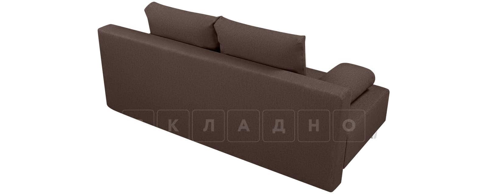 Диван Парма коричневого цвета рогожка фото 3 | интернет-магазин Складно