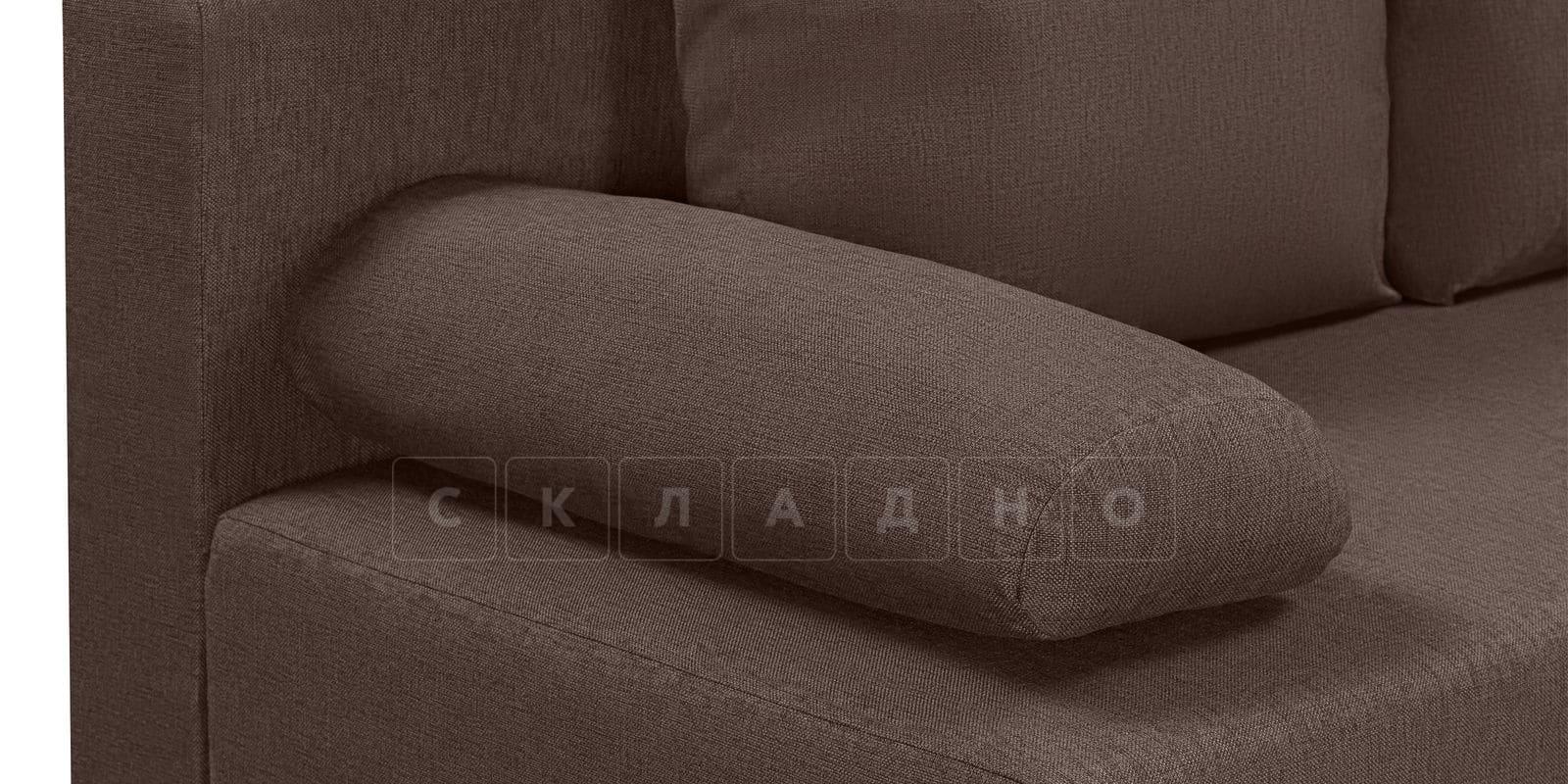 Диван Парма коричневого цвета рогожка фото 4 | интернет-магазин Складно