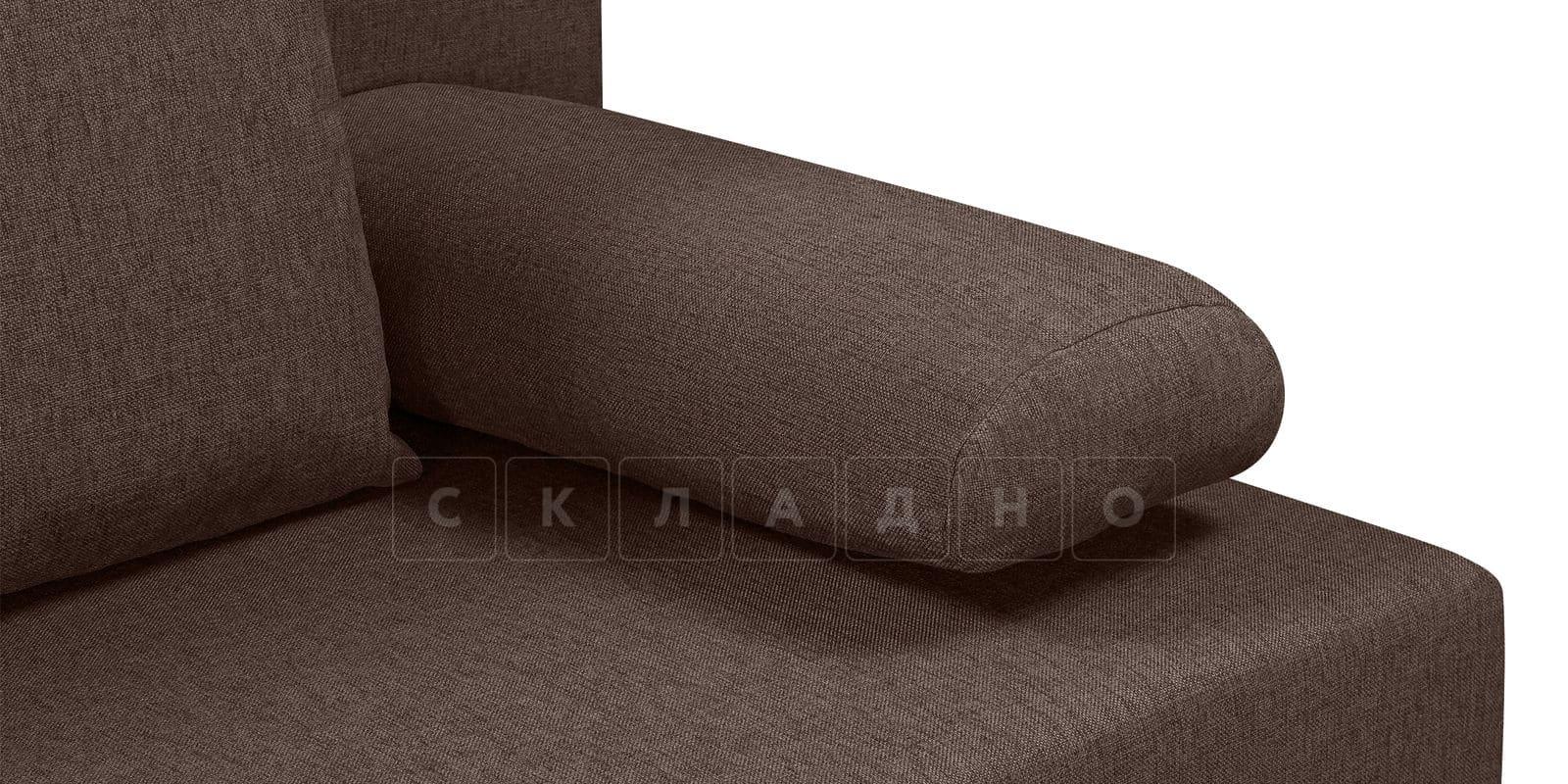 Диван Парма коричневого цвета рогожка фото 5 | интернет-магазин Складно