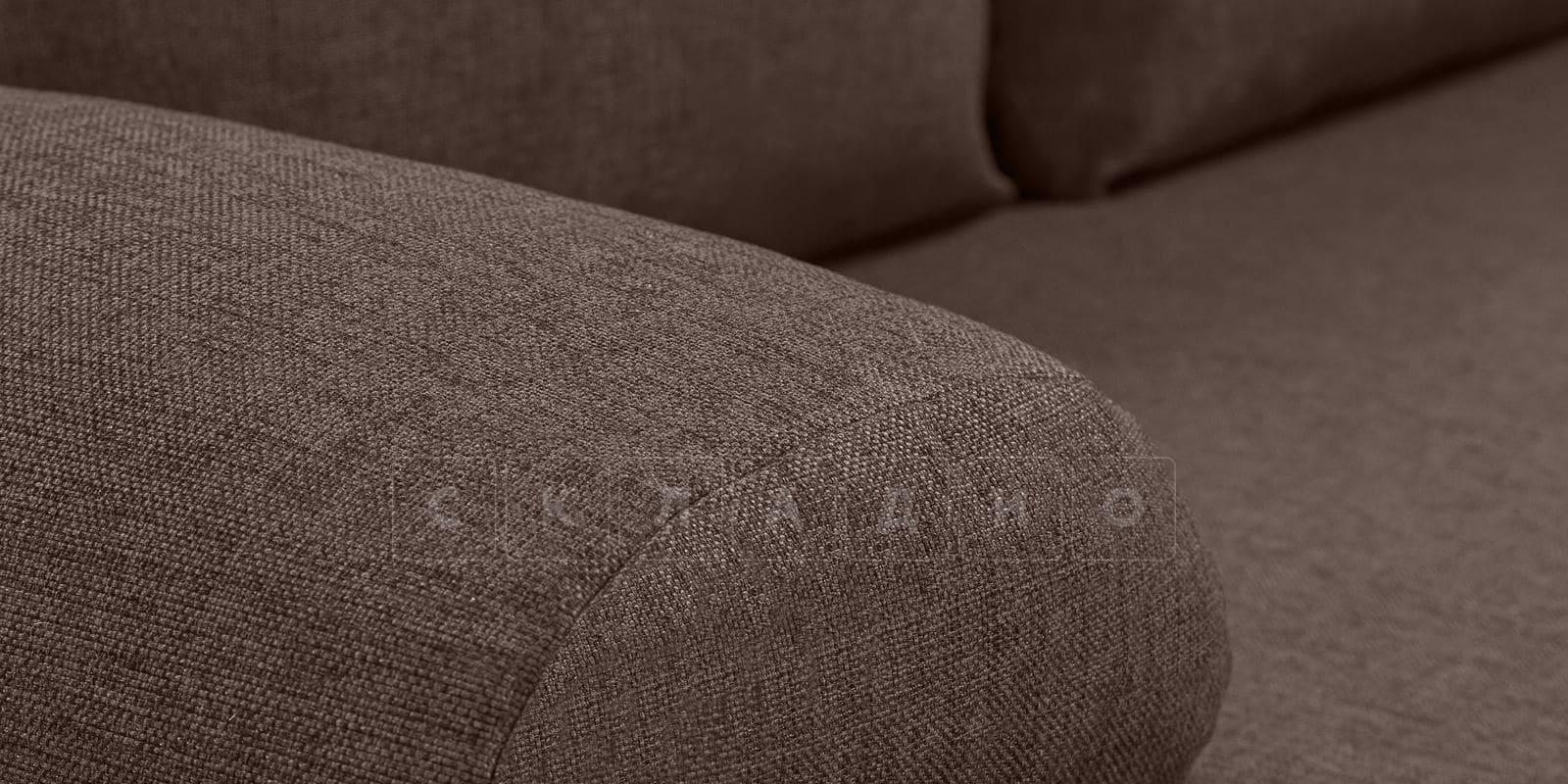 Диван Парма коричневого цвета рогожка фото 6 | интернет-магазин Складно