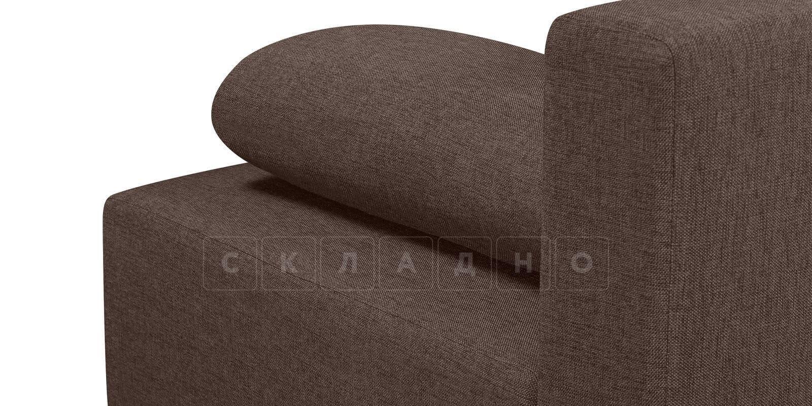Диван Парма коричневого цвета рогожка фото 7 | интернет-магазин Складно