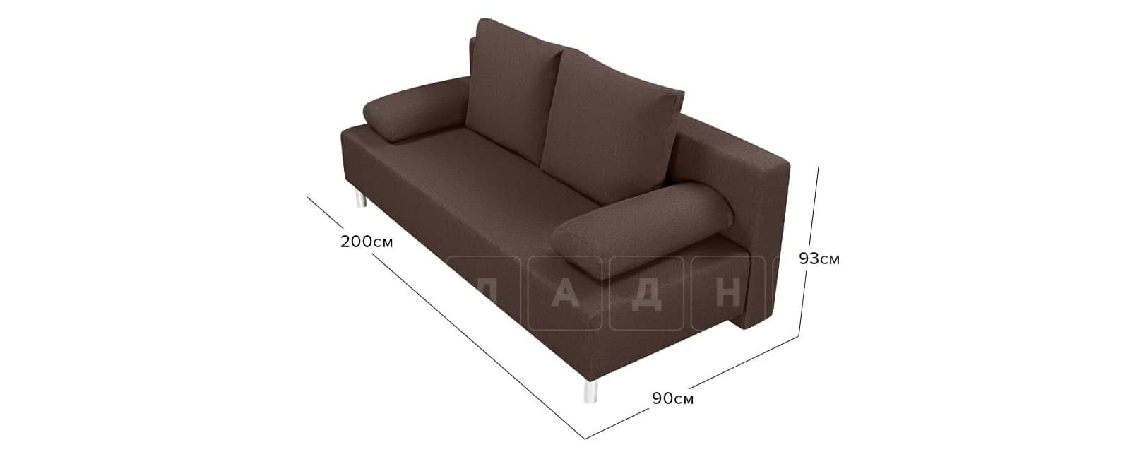 Диван Парма коричневого цвета рогожка фото 9 | интернет-магазин Складно