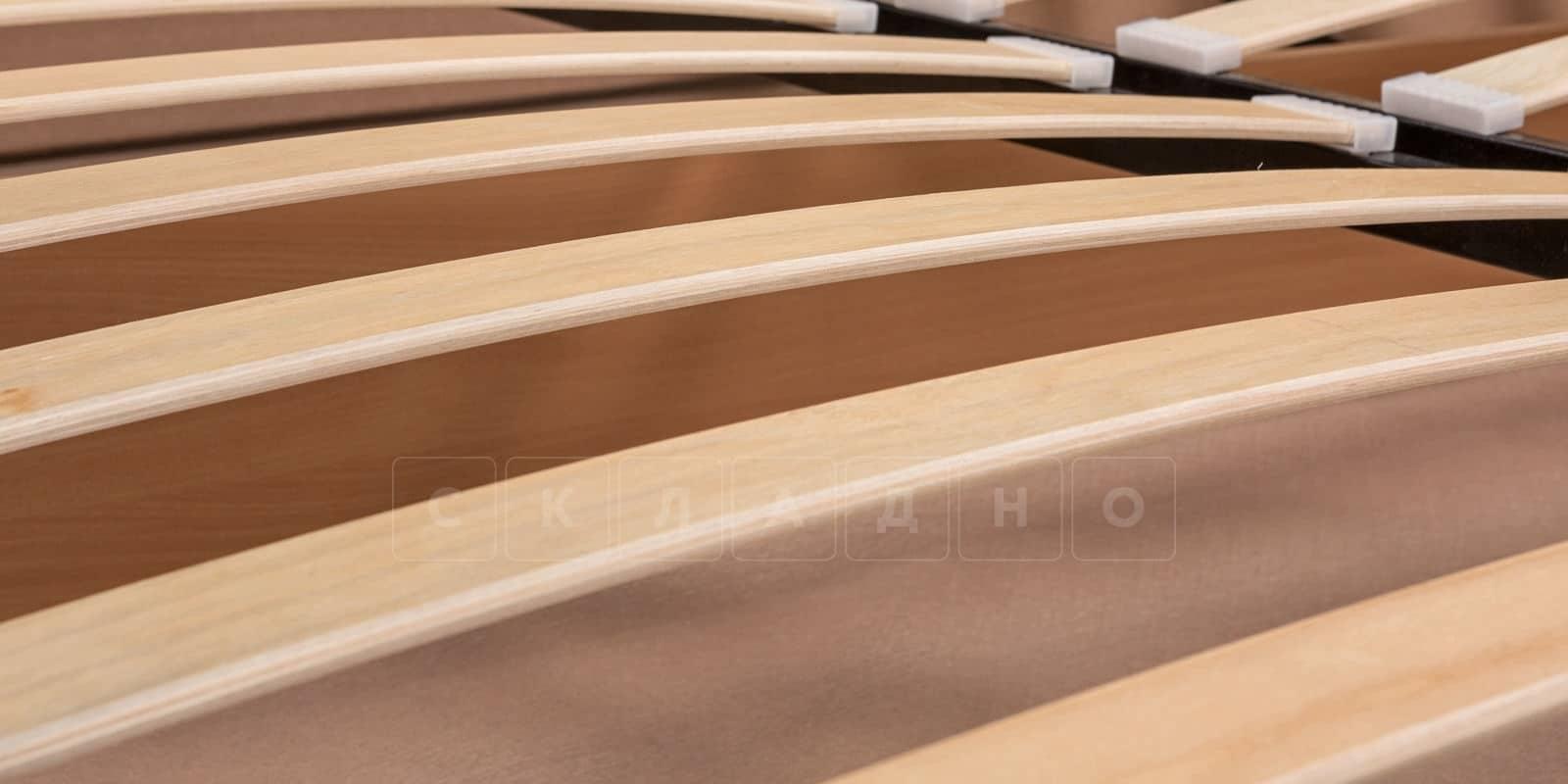 Мягкая кровать Афина 180см молочного цвета экокожа фото 7 | интернет-магазин Складно