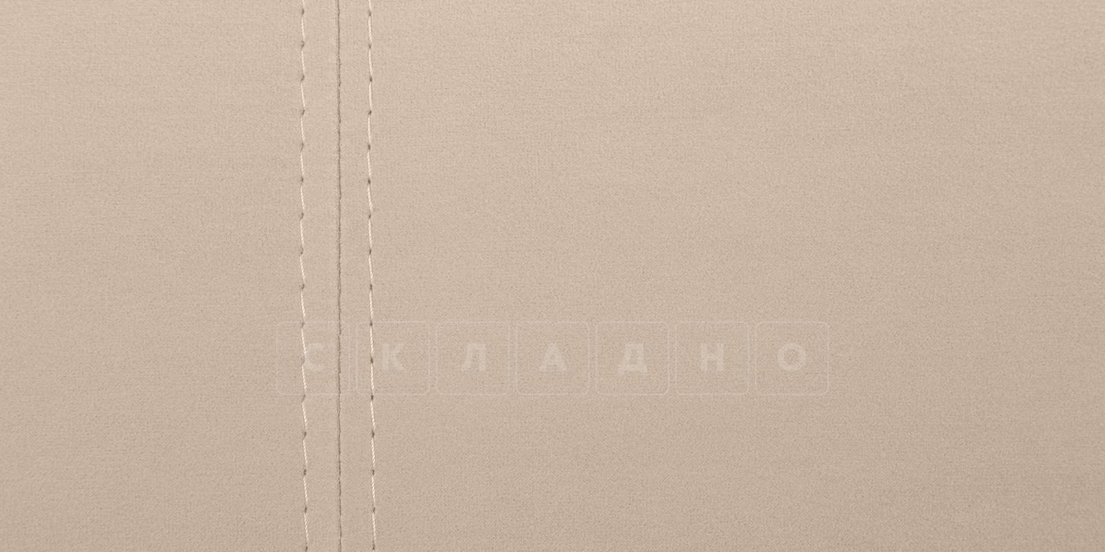 Мягкая кровать Афина 140см велюр бежевый фото 8 | интернет-магазин Складно