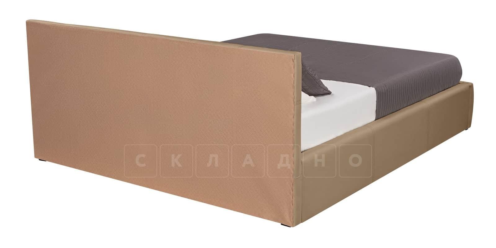Мягкая кровать Афина 160см экокожа темно-бежевого цвета фото 4 | интернет-магазин Складно