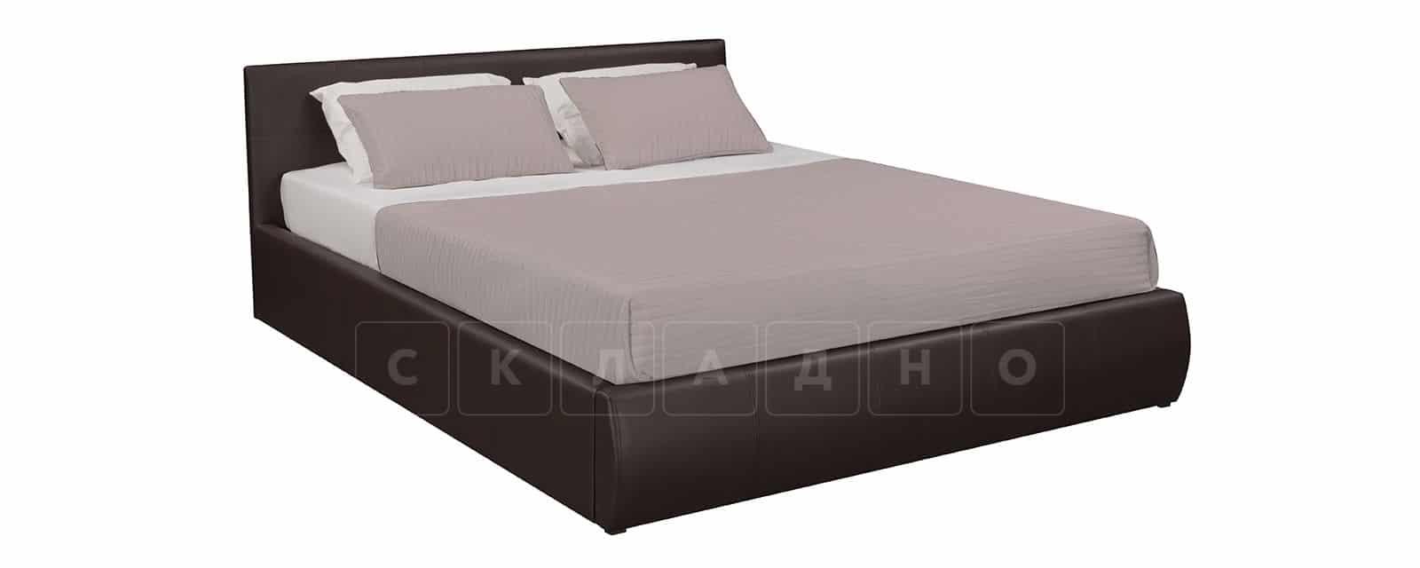 Мягкая кровать Афина 160см экокожа коричневого цвета фото 2   интернет-магазин Складно