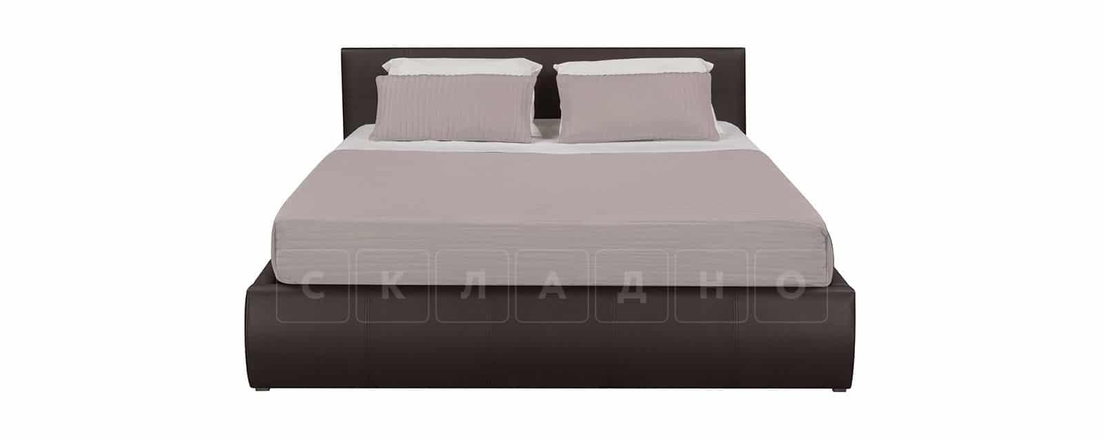 Мягкая кровать Афина 160см экокожа коричневого цвета фото 3   интернет-магазин Складно