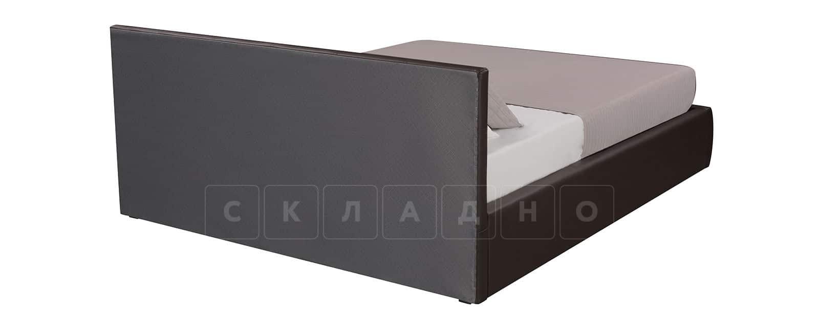 Мягкая кровать Афина 160см экокожа коричневого цвета фото 4   интернет-магазин Складно