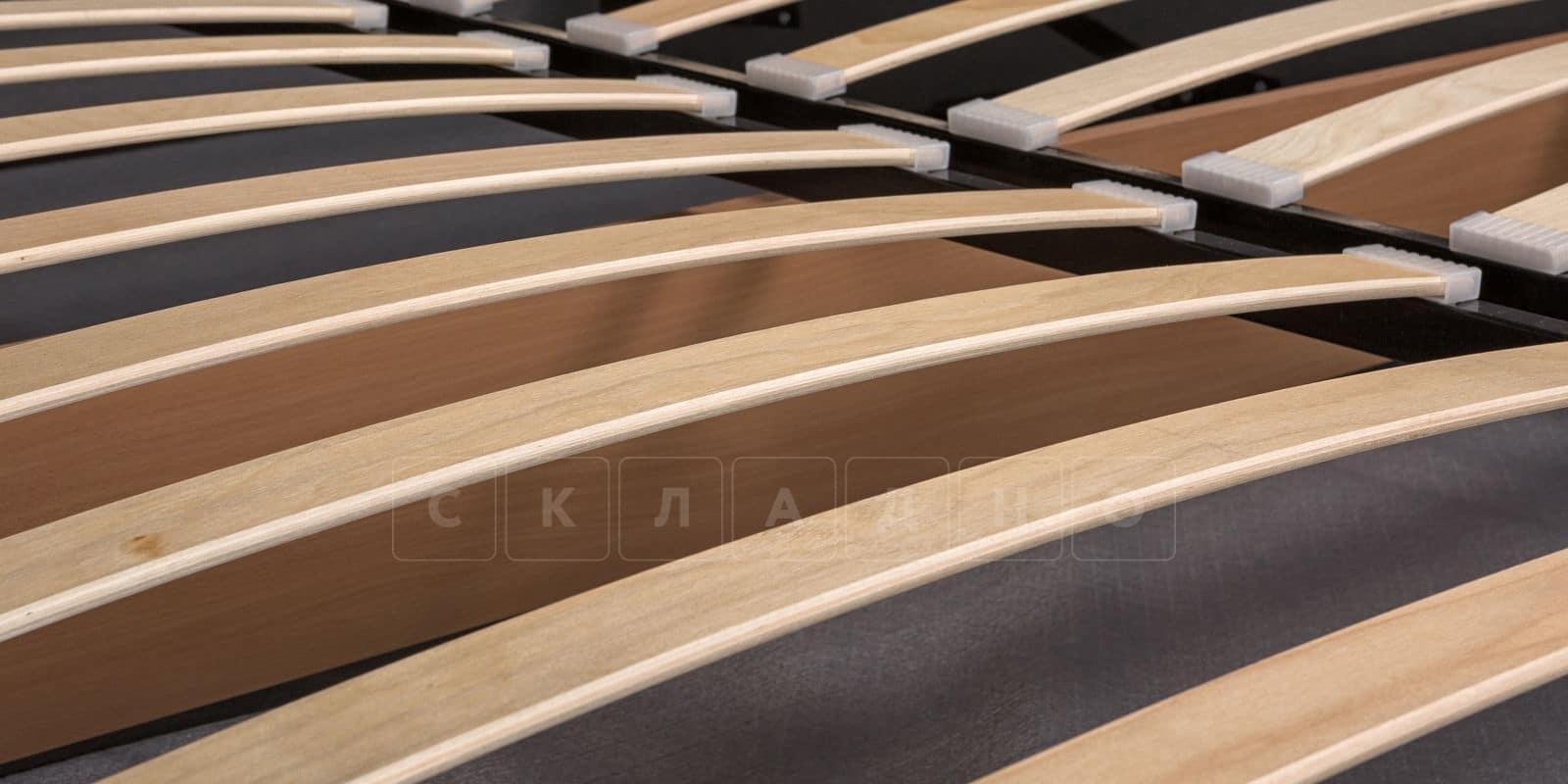 Мягкая кровать Афина 160см экокожа коричневого цвета фото 7   интернет-магазин Складно