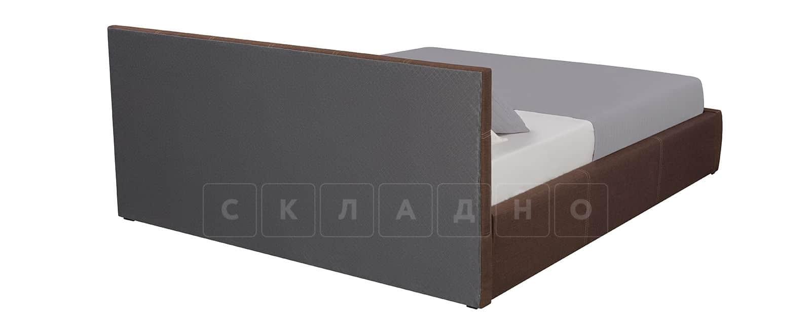 Мягкая кровать Афина 160см рогожка коричневого цвета фото 4 | интернет-магазин Складно