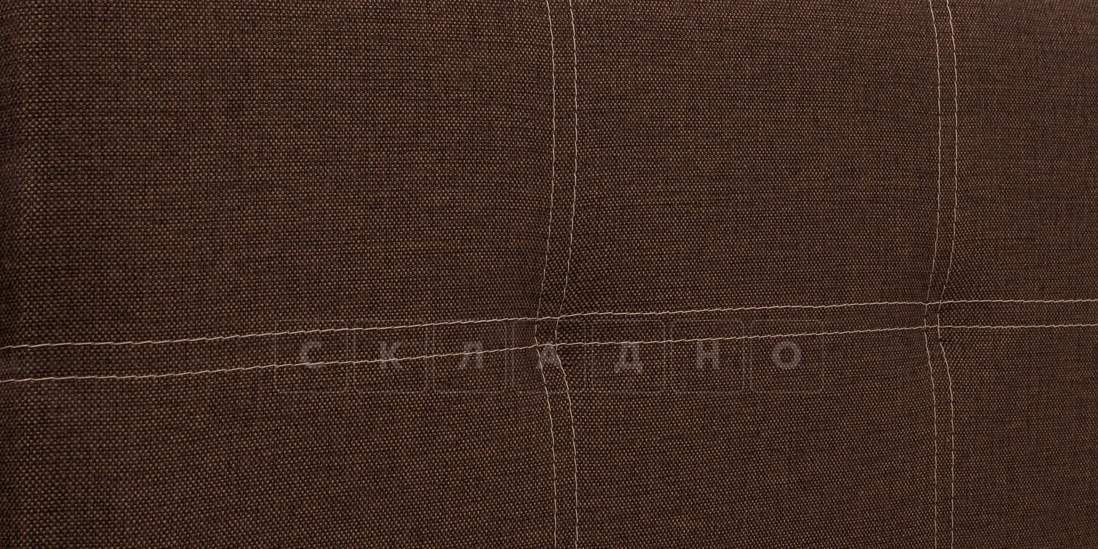 Мягкая кровать Афина 160см рогожка коричневого цвета фото 8 | интернет-магазин Складно