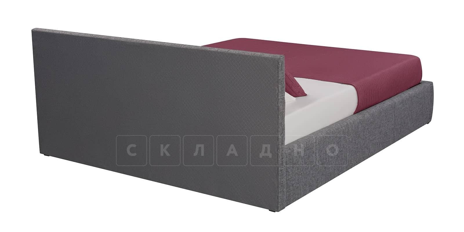 Мягкая кровать Афина 160см рогожка серого цвета фото 4 | интернет-магазин Складно