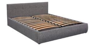 Мягкая кровать Афина 160см рогожка серого цвета 15950 рублей, фото 5 | интернет-магазин Складно