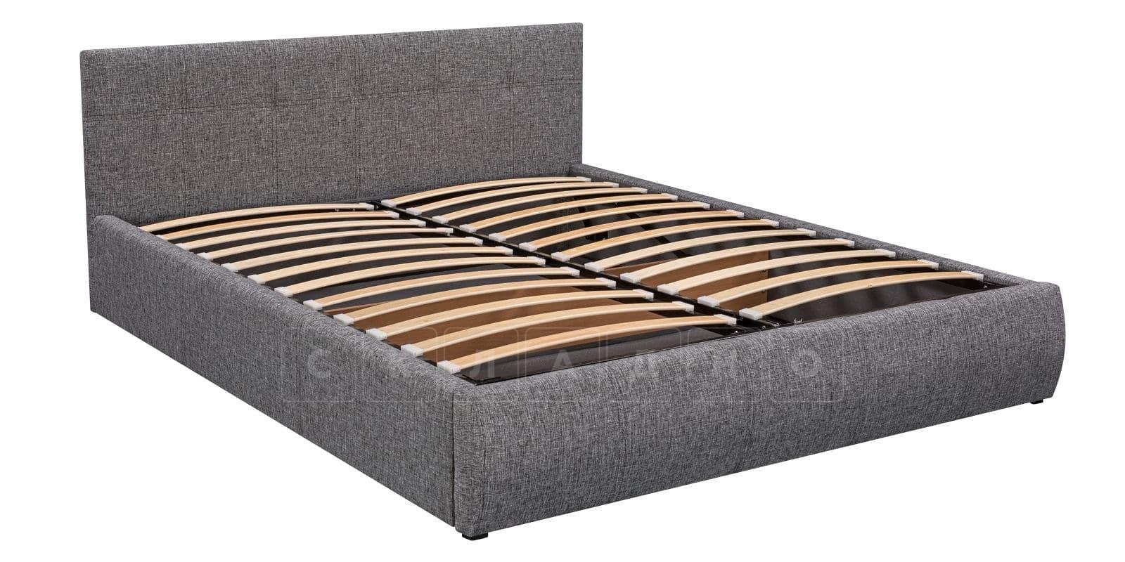 Мягкая кровать Афина 160см рогожка серого цвета фото 5 | интернет-магазин Складно