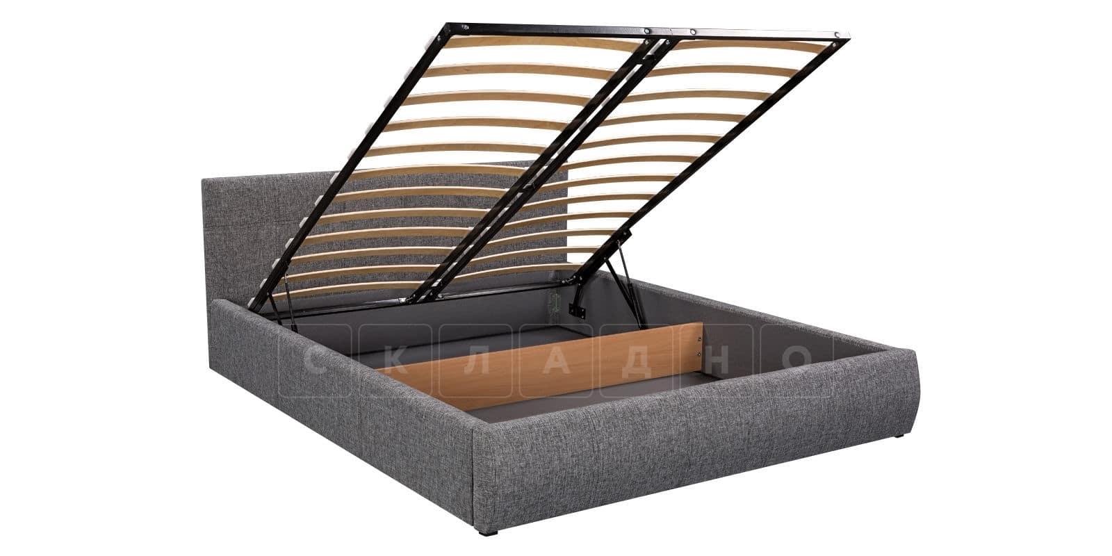 Мягкая кровать Афина 160см рогожка серого цвета фото 6 | интернет-магазин Складно