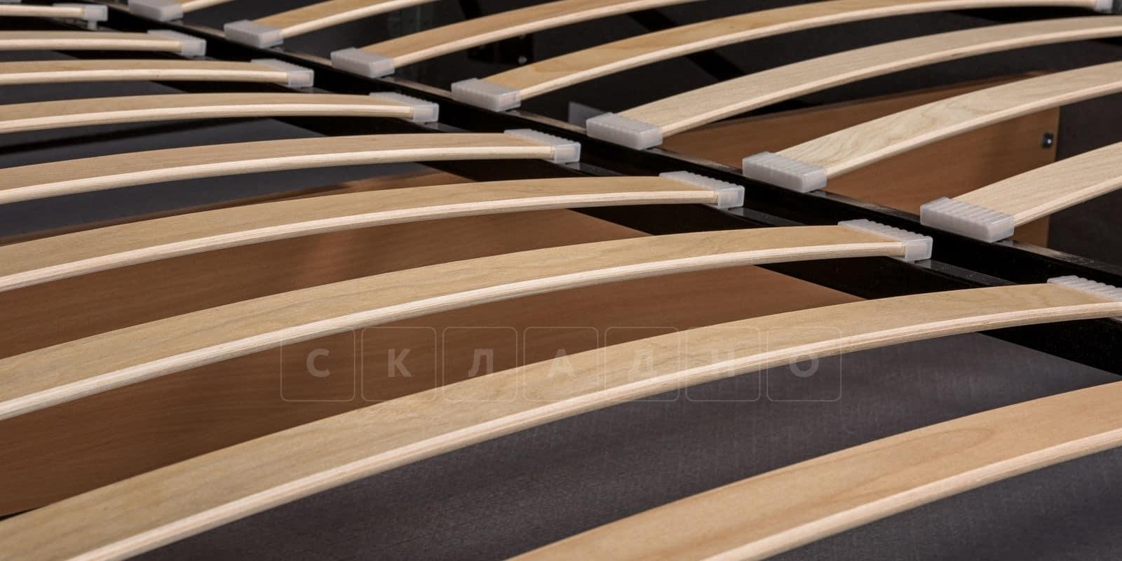 Мягкая кровать Афина 160см рогожка серого цвета фото 7 | интернет-магазин Складно