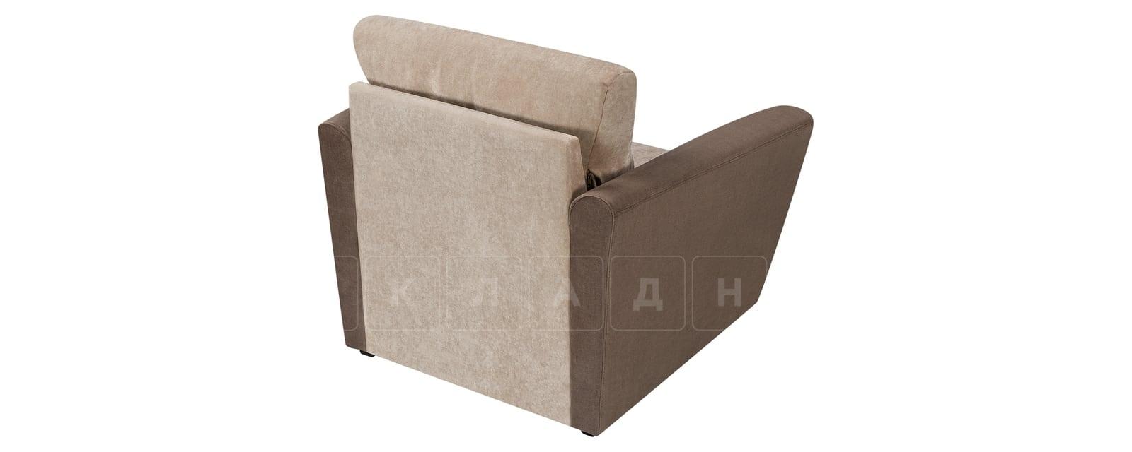 Кресло Амстердам вельвет бежевый с коричневым фото 3 | интернет-магазин Складно