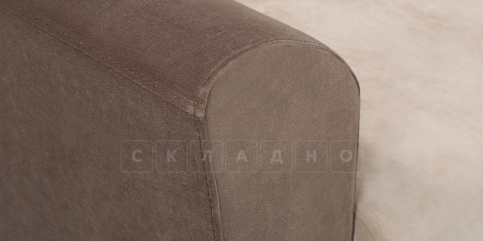 Кресло Амстердам вельвет бежевый с коричневым фото 6 | интернет-магазин Складно