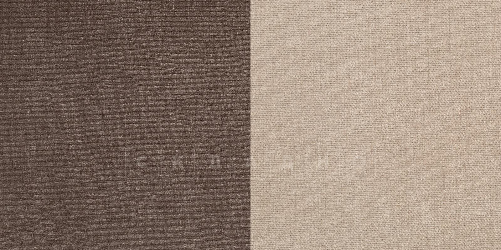 Кресло Амстердам вельвет бежевый с коричневым фото 7 | интернет-магазин Складно