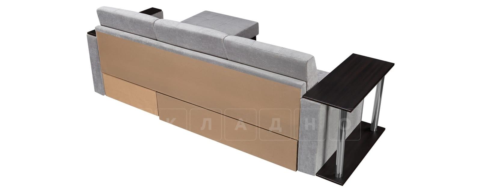 Угловой диван Атланта велюр светло-серый фото 3 | интернет-магазин Складно