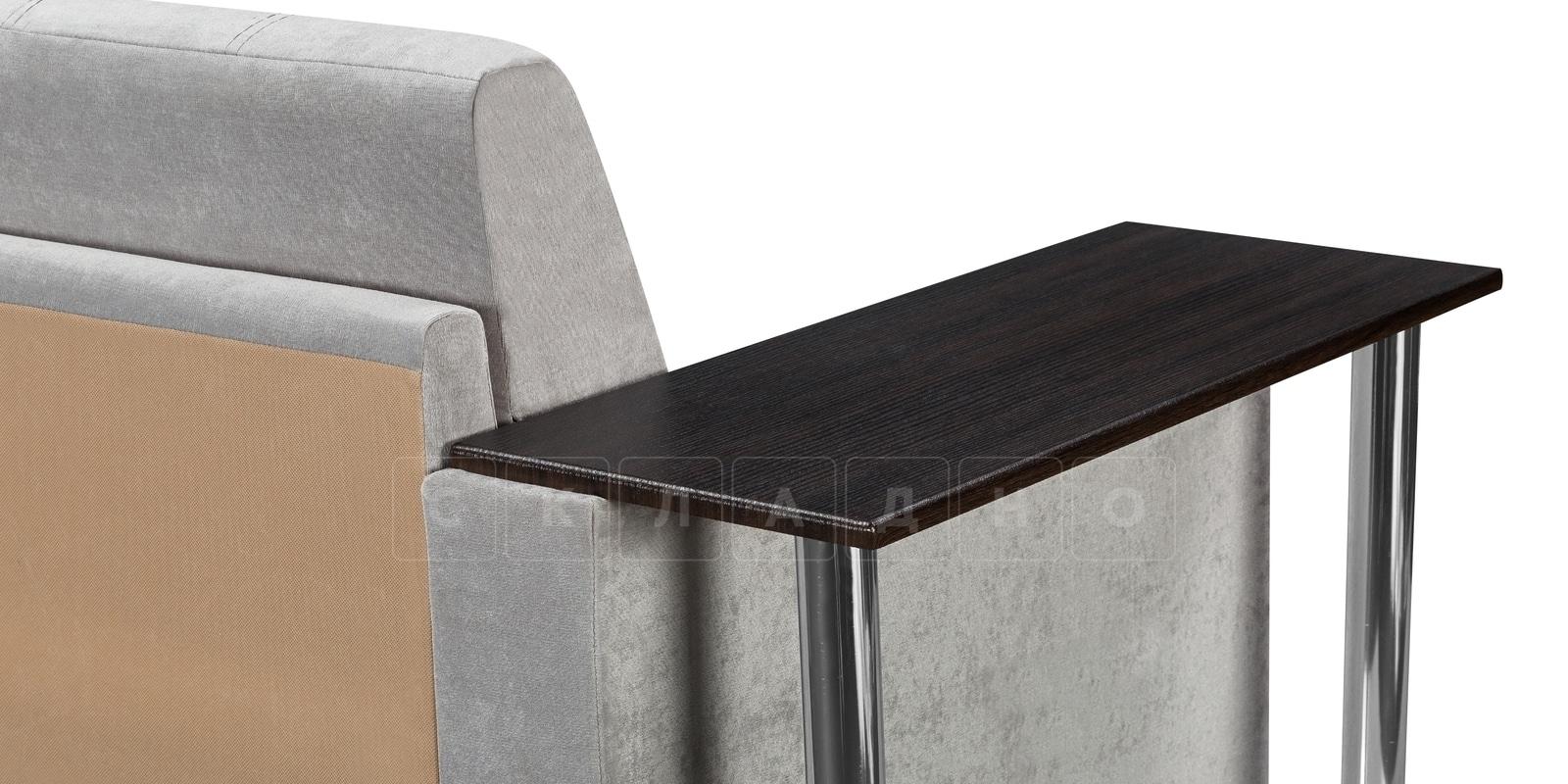 Угловой диван Атланта велюр светло-серый фото 6 | интернет-магазин Складно