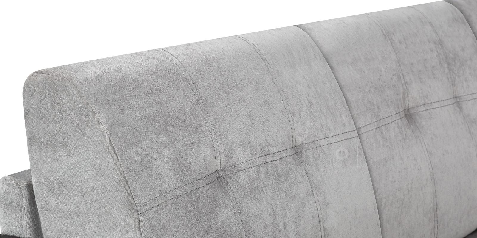 Угловой диван Атланта велюр светло-серый фото 7 | интернет-магазин Складно