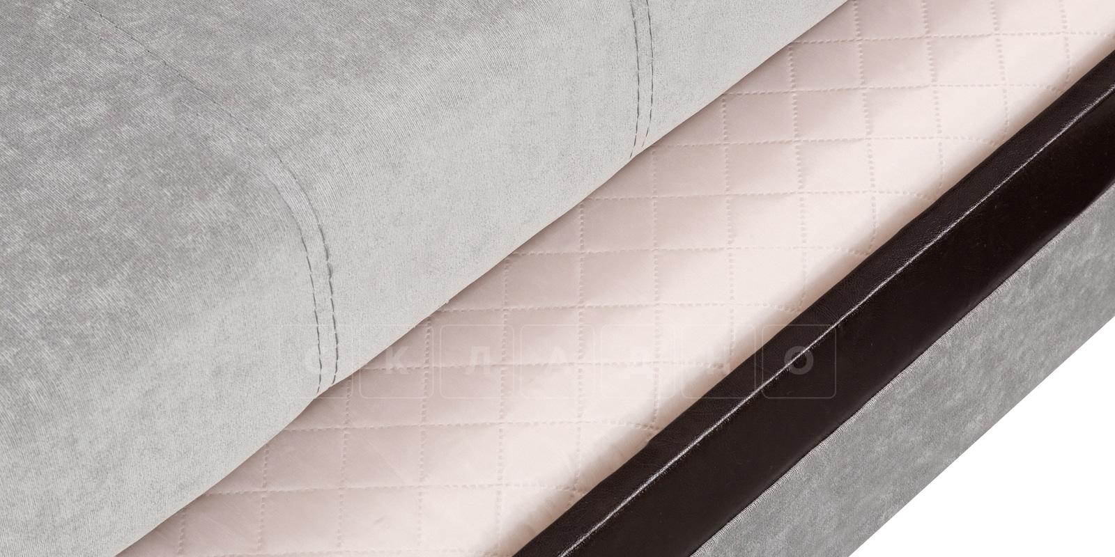 Угловой диван Атланта велюр светло-серый фото 8 | интернет-магазин Складно