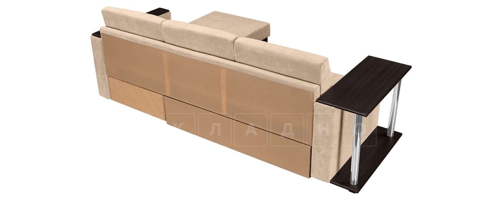 Угловой диван Атланта вельвет бежевый фото 3 | интернет-магазин Складно