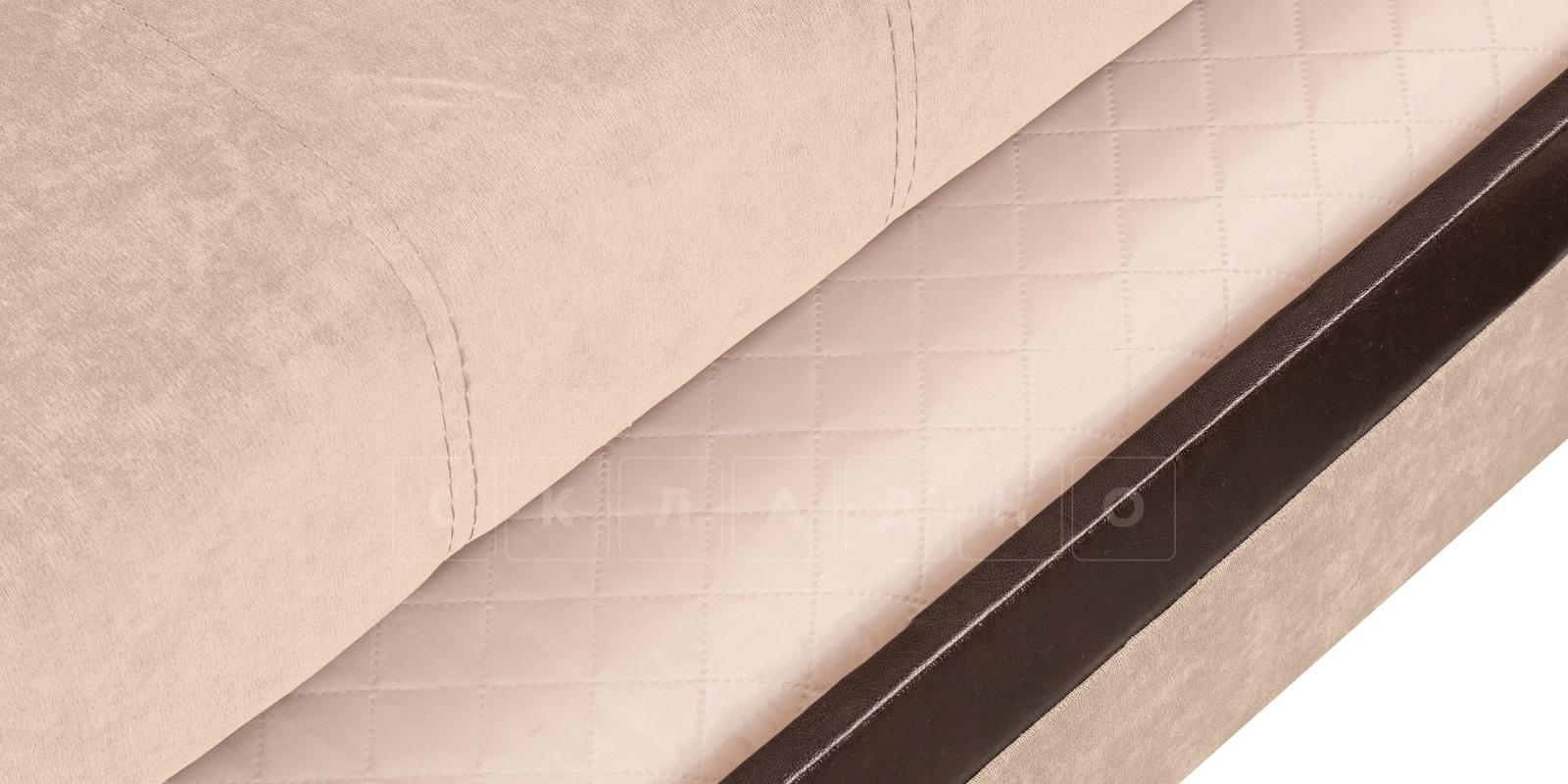 Угловой диван Атланта вельвет бежевый фото 5 | интернет-магазин Складно