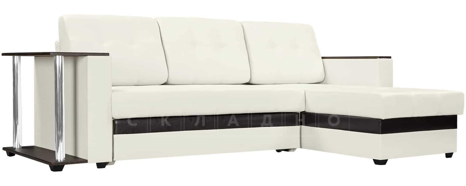 Угловой диван Атланта экокожа молочный фото 1   интернет-магазин Складно