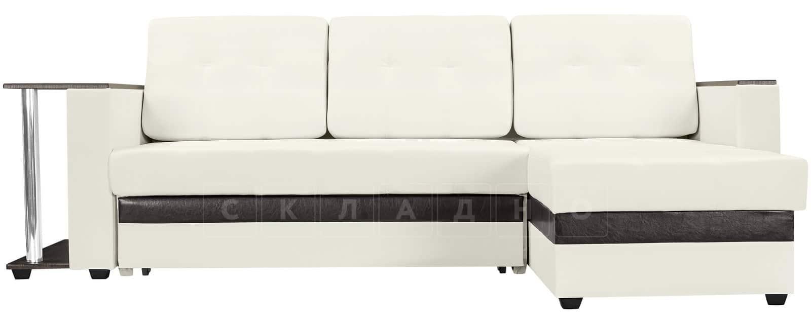 Угловой диван Атланта экокожа молочный фото 2   интернет-магазин Складно