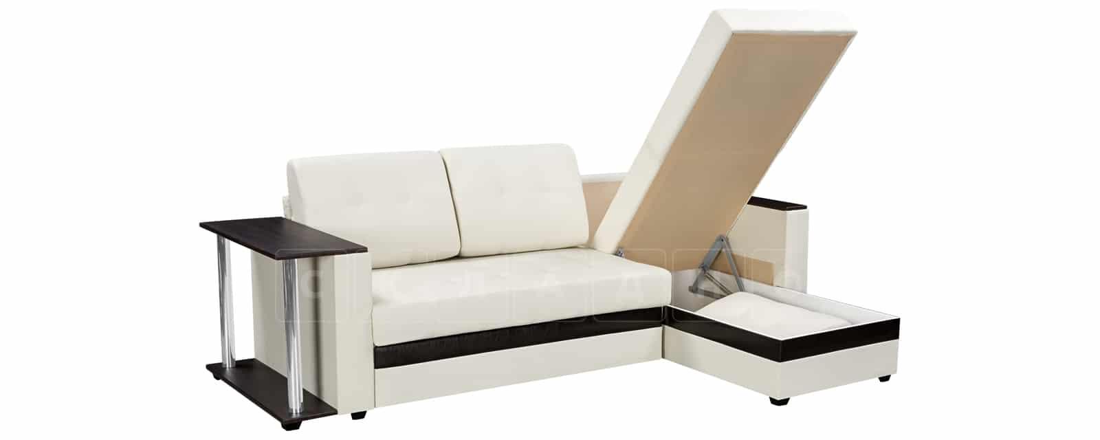 Угловой диван Атланта экокожа молочный фото 4   интернет-магазин Складно