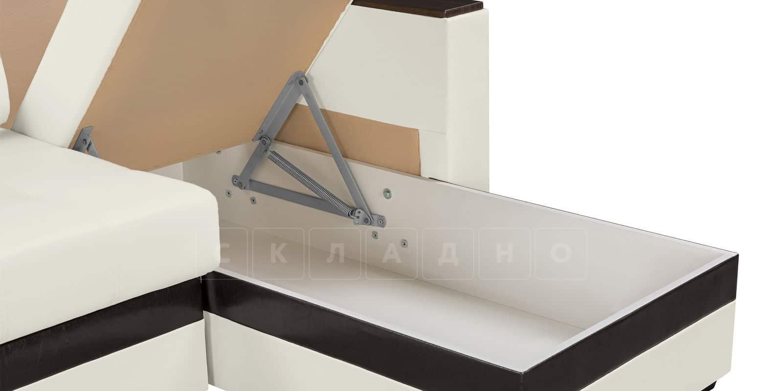 Угловой диван Атланта экокожа молочный фото 5   интернет-магазин Складно