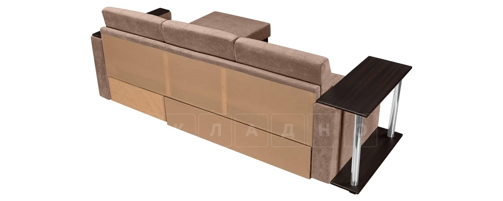 Угловой диван Атланта вельвет светло-коричневый фото 3 | интернет-магазин Складно