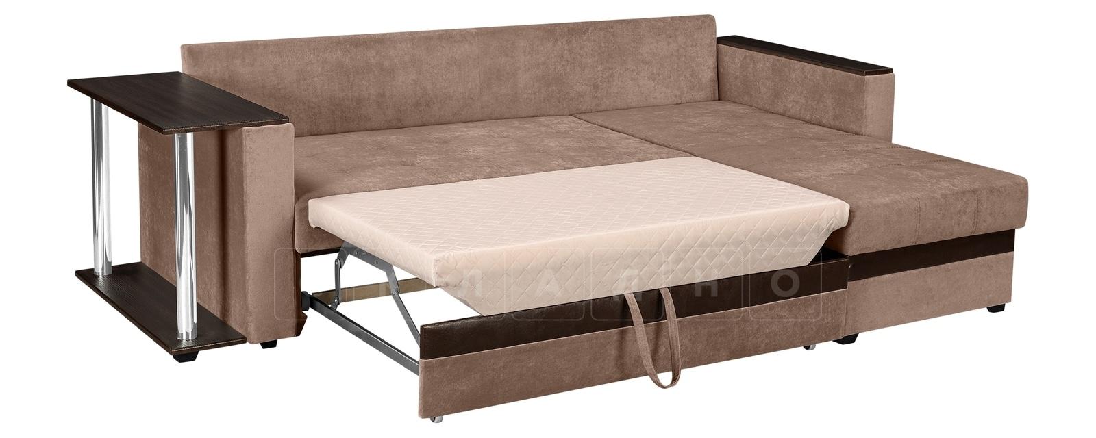 Угловой диван Атланта вельвет светло-коричневый фото 4 | интернет-магазин Складно