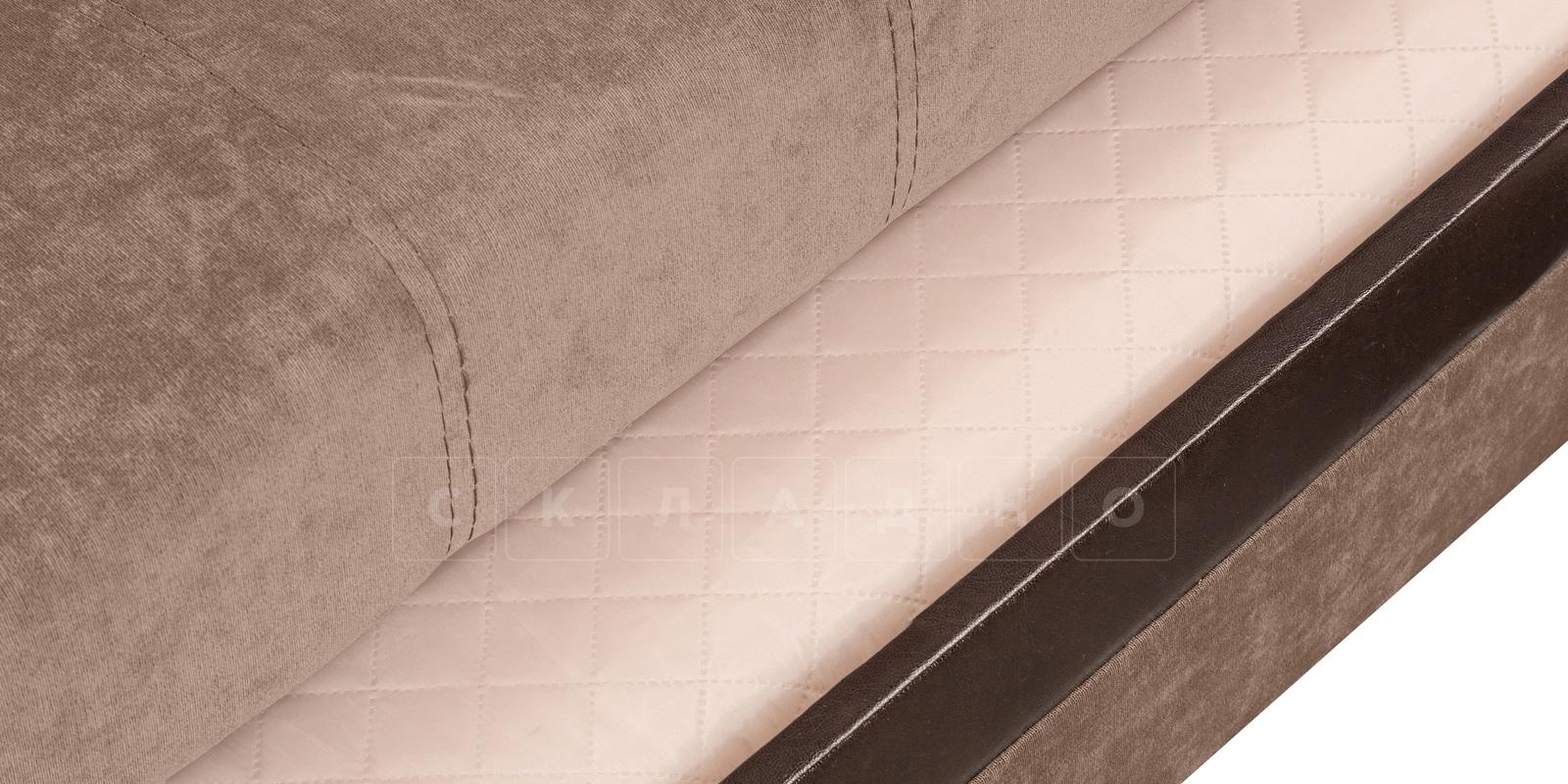 Угловой диван Атланта вельвет светло-коричневый фото 5 | интернет-магазин Складно