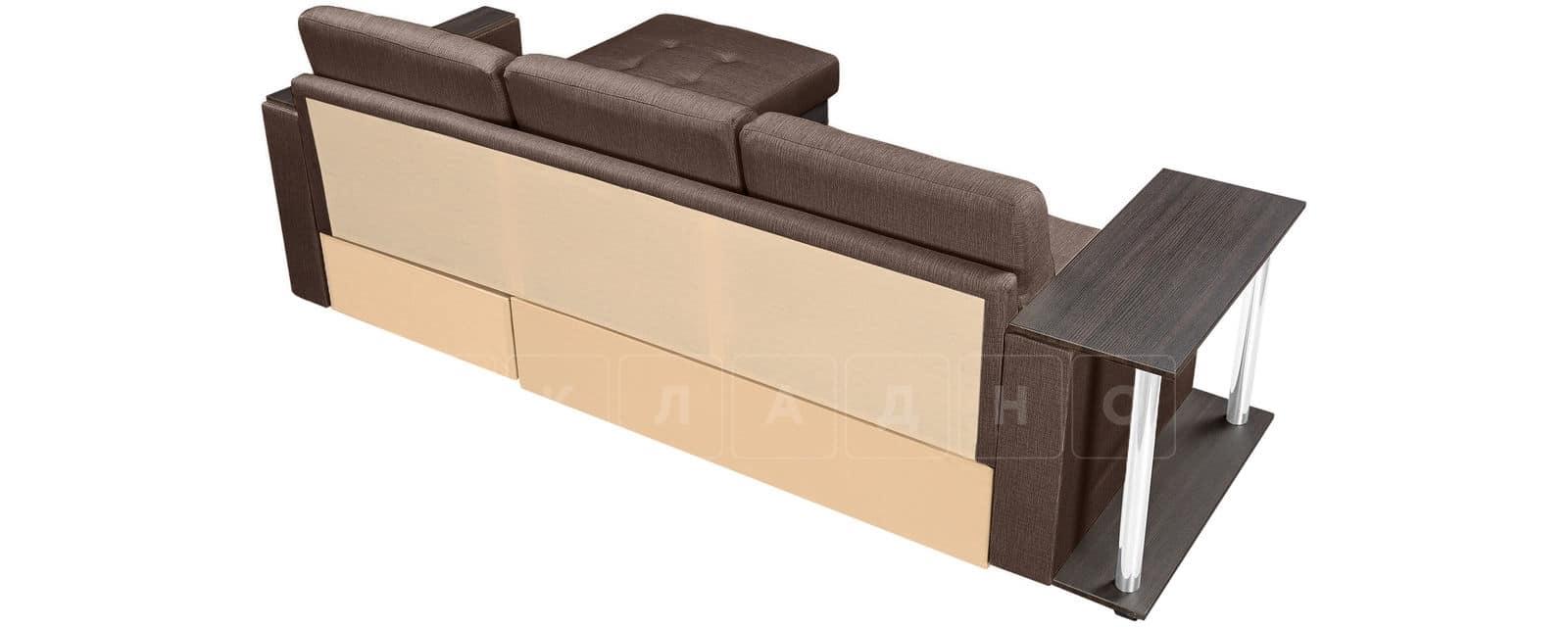 Угловой диван Атланта рогожка коричневого цвета фото 3 | интернет-магазин Складно