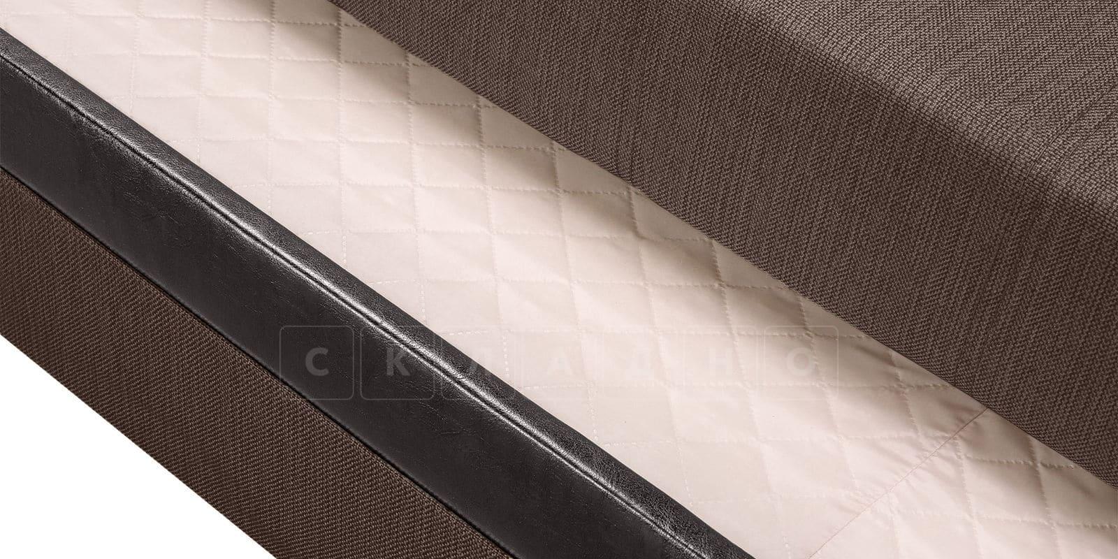 Угловой диван Атланта рогожка коричневого цвета фото 6 | интернет-магазин Складно