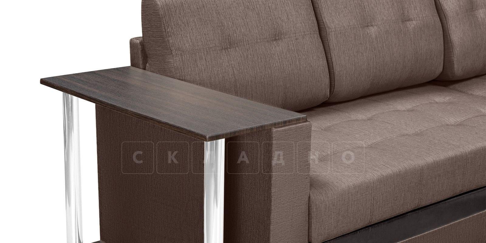 Угловой диван Атланта рогожка коричневого цвета фото 7 | интернет-магазин Складно