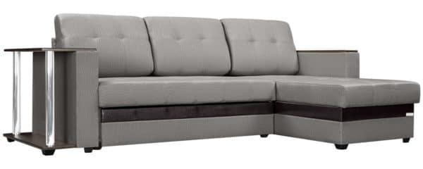 Угловой диван Атланта рогожка серого цвета фото | интернет-магазин Складно