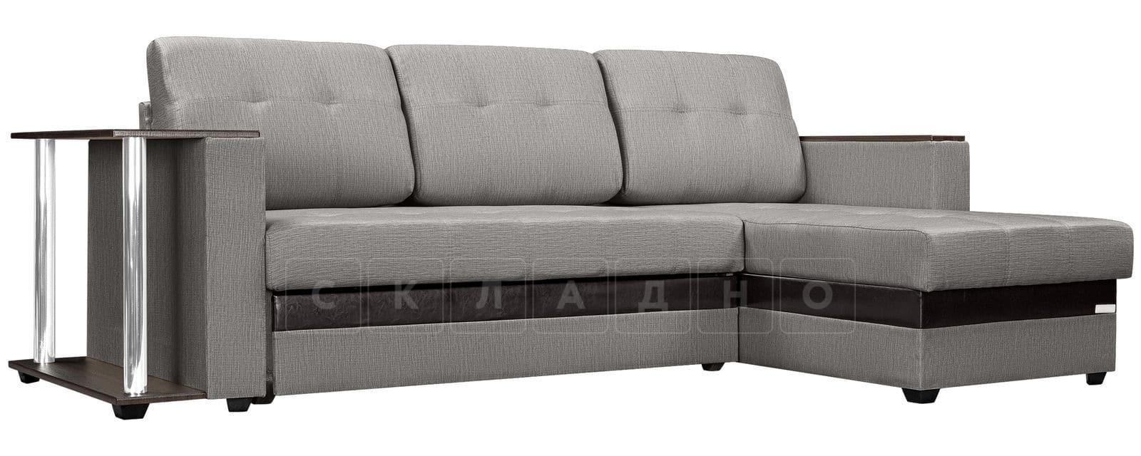 Угловой диван Атланта рогожка серого цвета фото 1 | интернет-магазин Складно